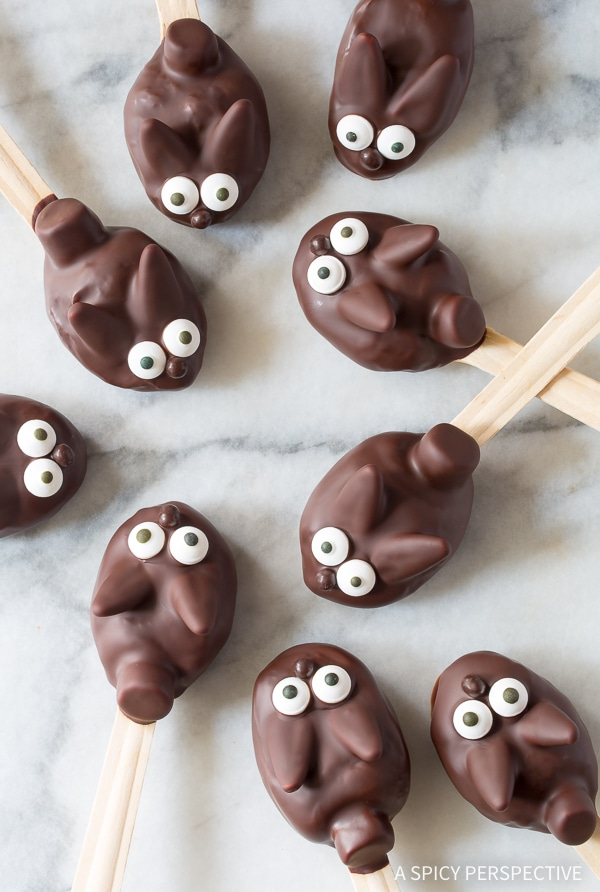 Best Easter Bunny Chocolate Peanut Butter Truffle Spoons Recipe