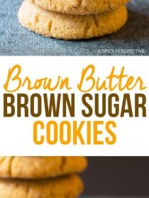 Soft Chewy Brown Butter Brown Sugar Cookies Recipe