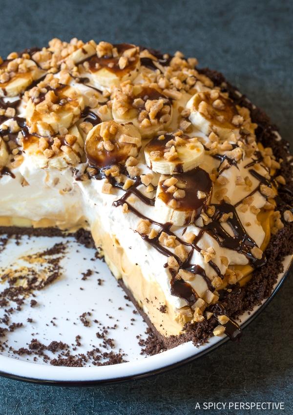 Light Fluffy No-Bake Chocolate Banoffee Pie Recipe