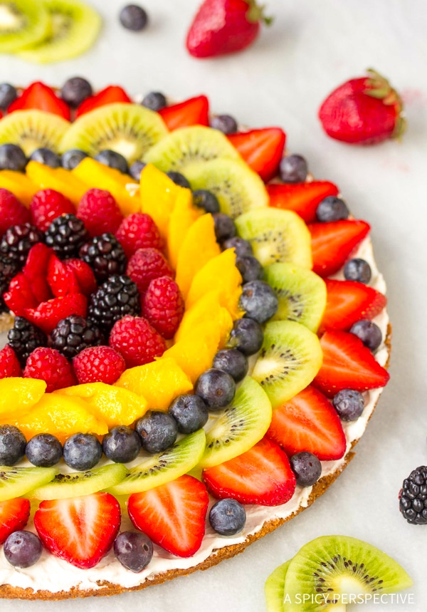 Easy Gluten Free Vegan Fruit Pizza Recipe