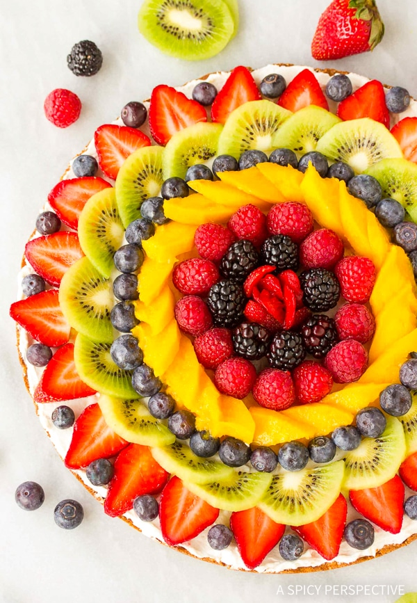 Heavenly Gluten Free Vegan Fruit Pizza Recipe