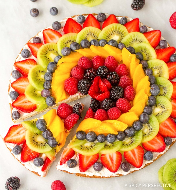 Gluten Free Vegan Fruit Pizza Recipe
