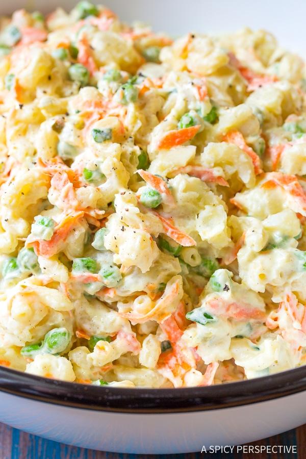 The Best Hawaiian Style Potato Macaroni Salad Recipe