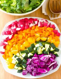 Healthy Rainbow Chopped Salad Recipe