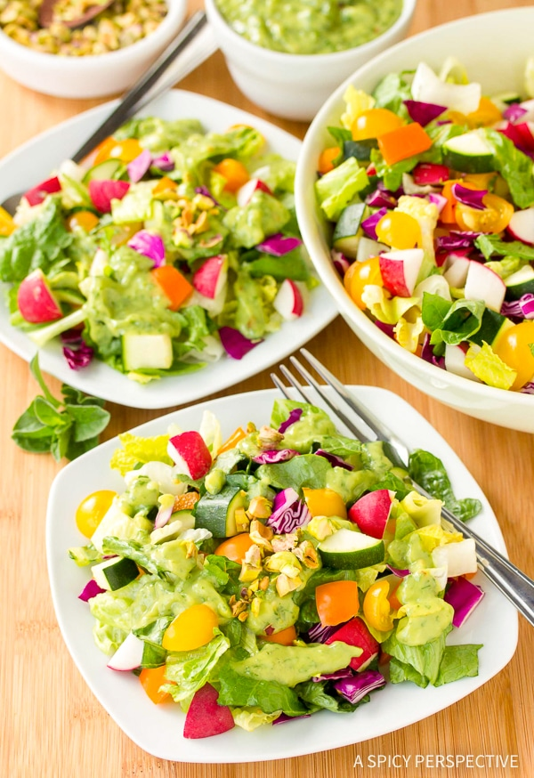 Cool Healthy Rainbow Chopped Salad Recipe