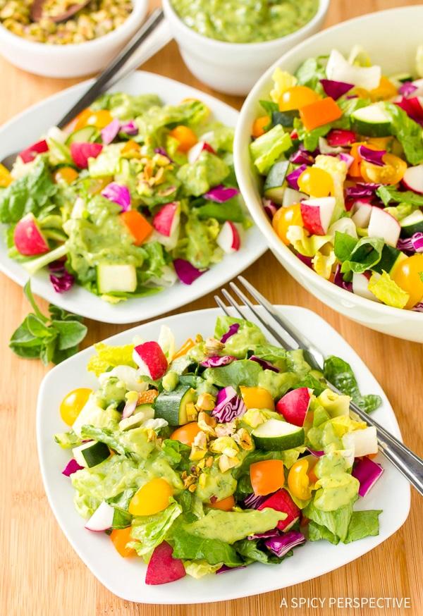 Cool Healthy Rainbow Chopped Salad Recipe