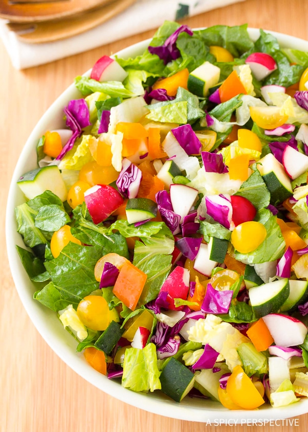 Crisp Healthy Rainbow Chopped Salad Recipe
