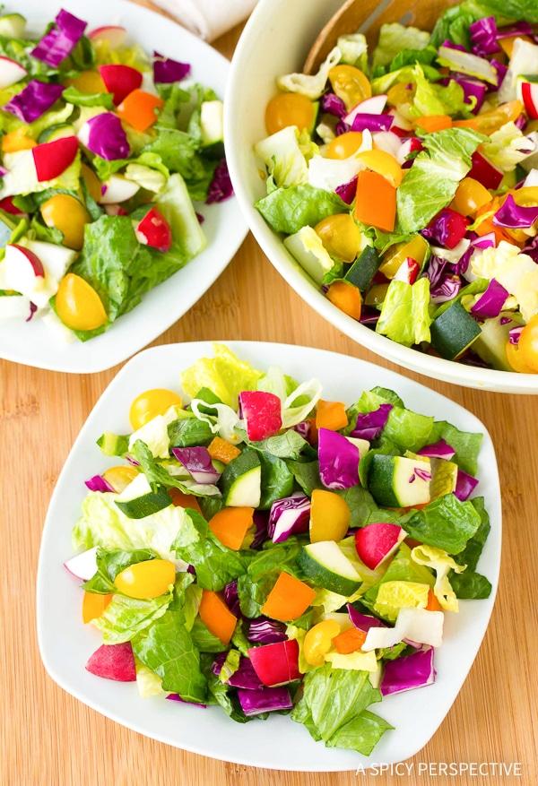 Crunchy Healthy Rainbow Chopped Salad Recipe