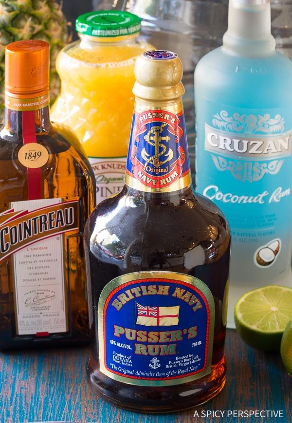 Making Large-Batch Goombay Smash Caribbean Cocktails Recipe