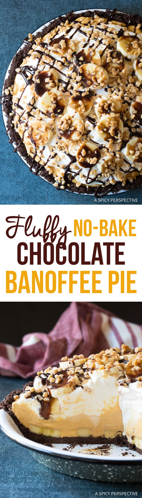 Fluffy No-Bake Chocolate Banoffee Pie Recipe for Easter!