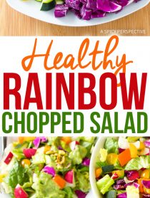 Healthy Crunchy Rainbow Chopped Salad Recipe