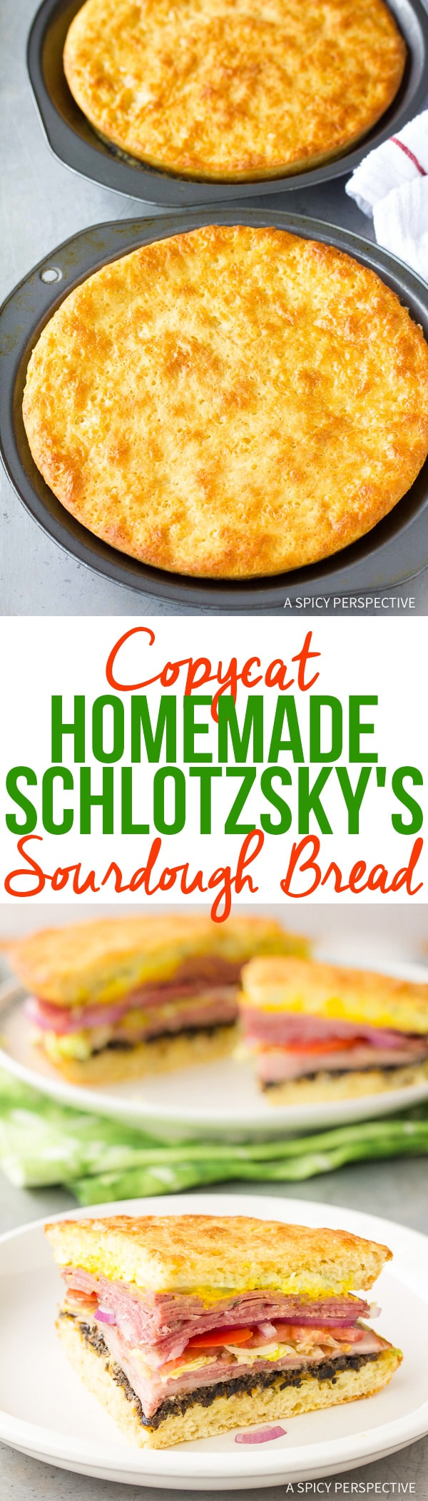 Copycat Homemade Schlotzsky's Sourdough Bread Recipe and Original Sandwiches!