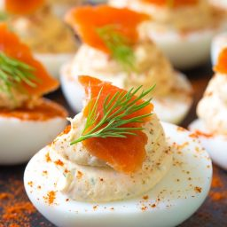 Smoked Salmon Deviled Eggs