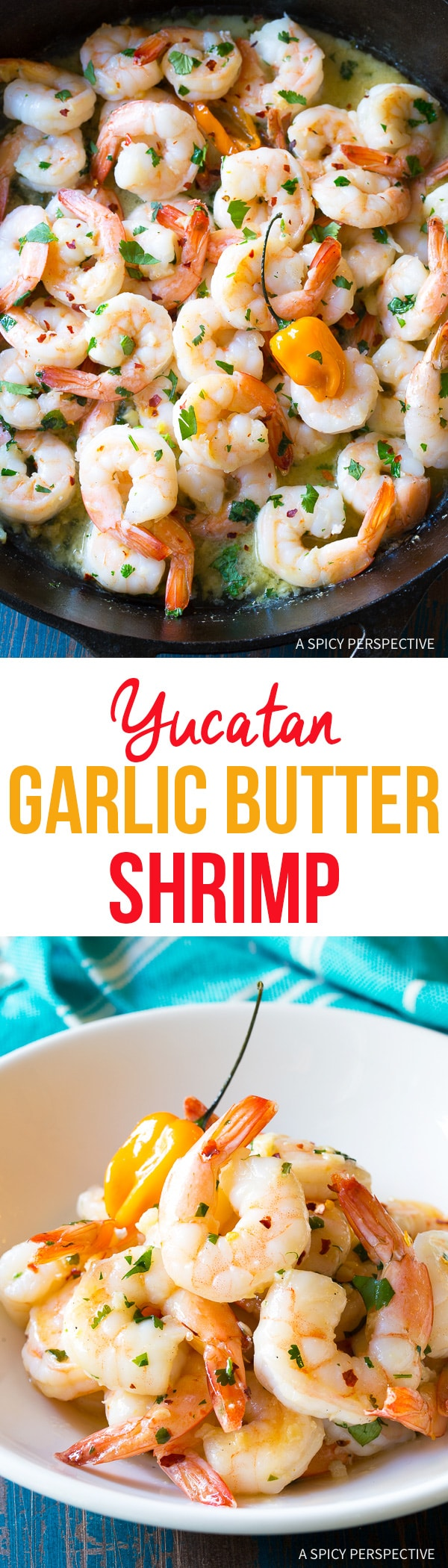 Zesty Yucatán Garlic Butter Shrimp Recipe