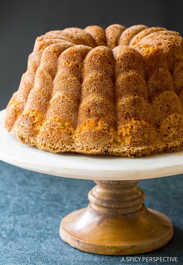 Green Chile Peach Pound Cake Recipe