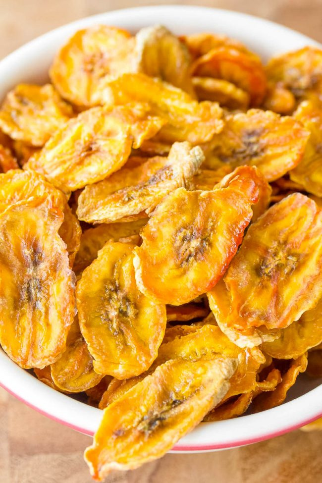 Wonderful banana chip recipe in a bowl ready for you to consume!
