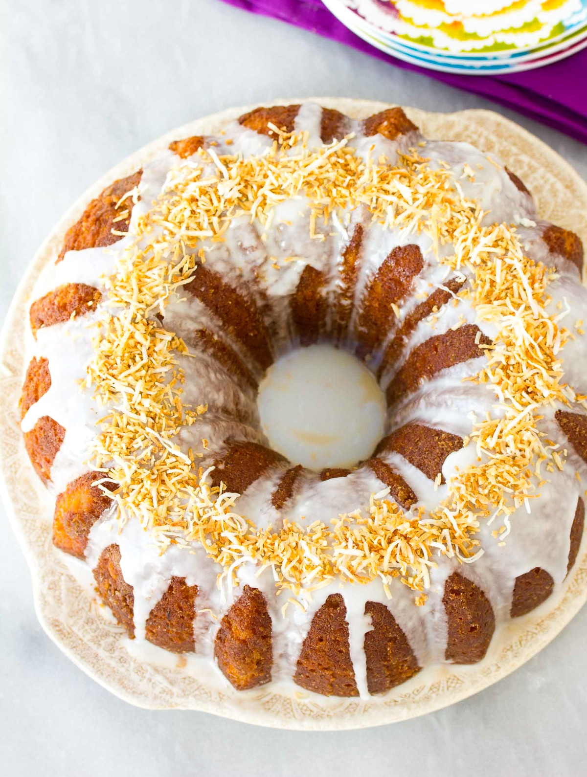 Best Rum Cake Recipe #ASpicyPerspective #bundtcake #spicecake #rum #rumcake #caribbean #holiday #coconut #pineapple