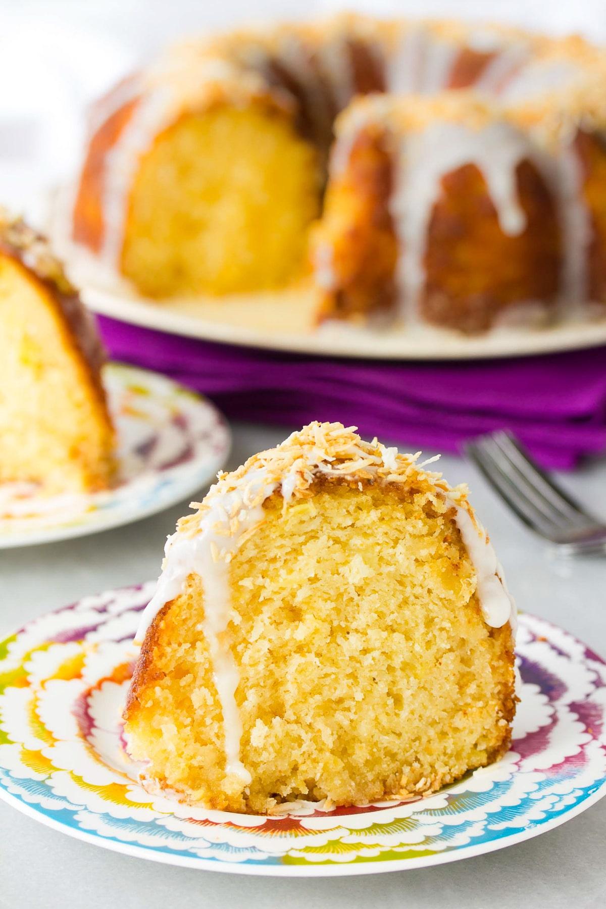 Caribbean Spiced Rum Cake Recipe #ASpicyPerspective #bundtcake #spicecake #rum #rumcake #caribbean #holiday #coconut #pineapple