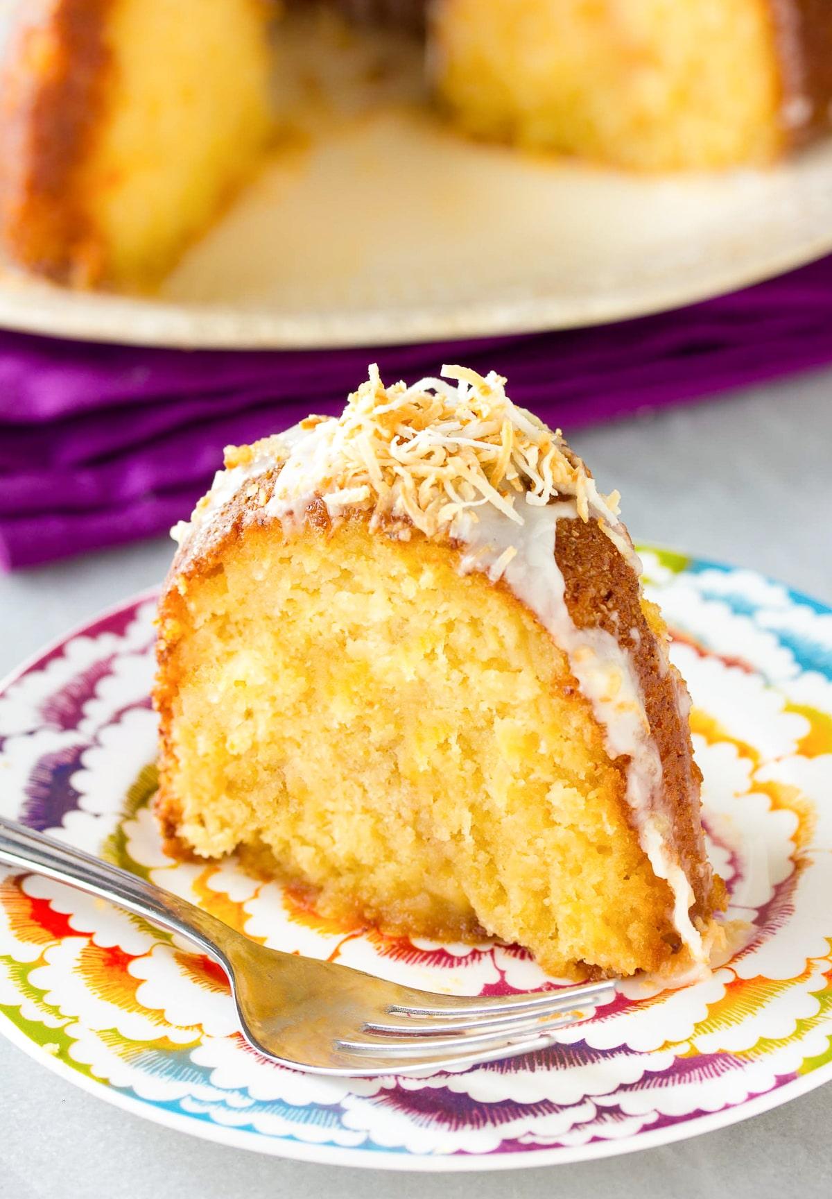 Spiced Caribbean Rum Cake Recipe #ASpicyPerspective #bundtcake #spicecake #rum #rumcake #caribbean #holiday #coconut #pineapple