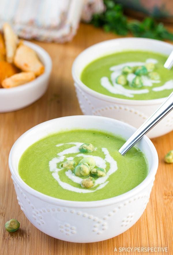 Spring Pea Wasabi Soup Recipe (Vegan, Gluten Free & Dairy Free!)