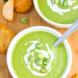 Spring Pea Wasabi Soup Recipe