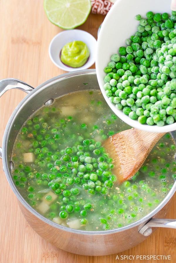 How To Make: Spring Pea Wasabi Soup Recipe (Vegan, Gluten Free & Dairy Free!)