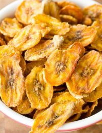 Healthy Baked Banana Chips Recipe