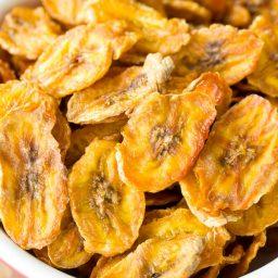 Healthy Baked Banana Chips Recipe