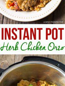 Perfect Instant Pot Herb Chicken Orzo Recipe (Pressure Cooker Italian Pasta)