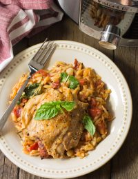Instant Pot Herb Chicken Orzo Recipe (Pressure Cooker Italian Pasta)