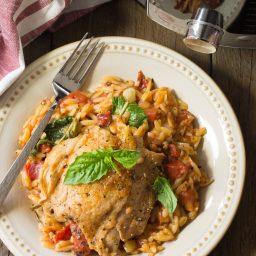 Instant Pot Herb Chicken Orzo Recipe (Pressure Cooker Italian Pasta)