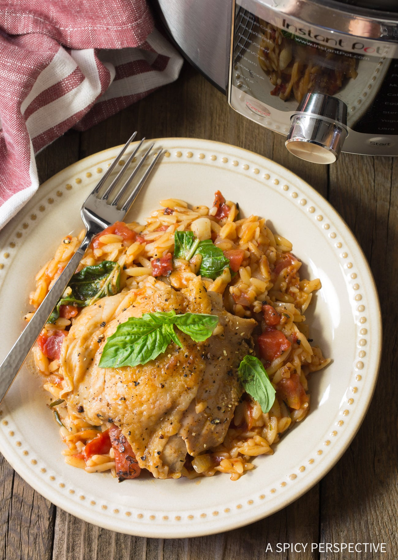 Instant Pot Herb Chicken Orzo Video A Spicy Perspective