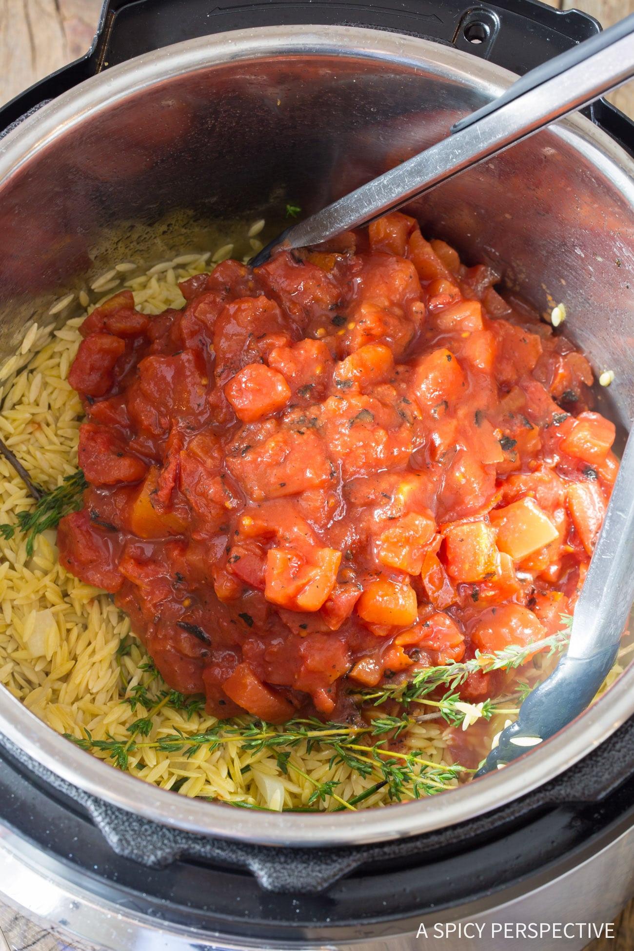 How To: Instant Pot Herb Chicken Orzo Recipe (Pressure Cooker Italian Pasta)