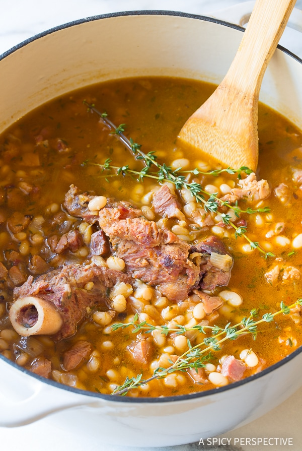 Nana's Navy Bean Ham Bone Soup Recipe
