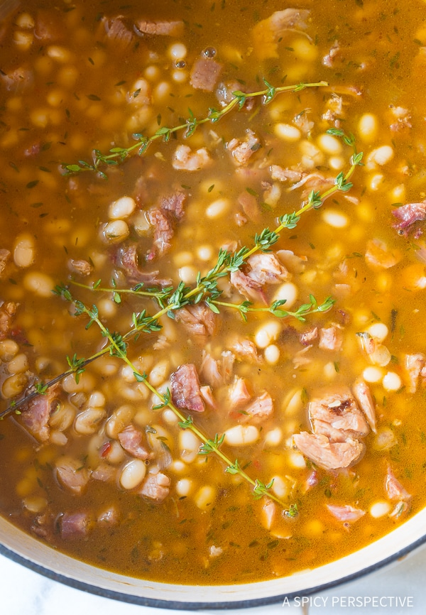 My Nana's Epic Navy Bean Ham Bone Soup Recipe