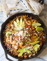 One-Pot Shrimp Black Bean Rice Skillet Recipe