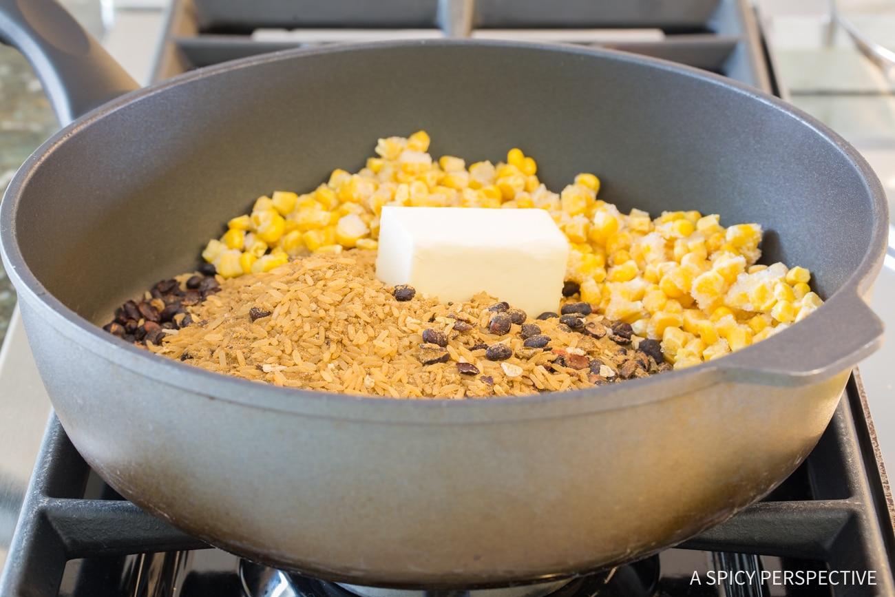 How To: One-Pot Shrimp Black Bean Rice Skillet Recipe