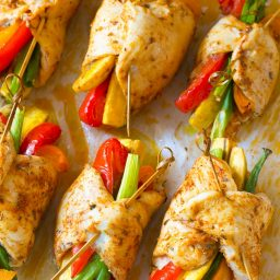Peruvian Baked Chicken and Vegetable Roll Ups Recipe