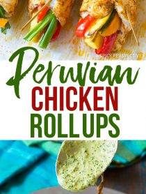 Zesty Peruvian Baked Chicken and Vegetable Roll Ups Recipe