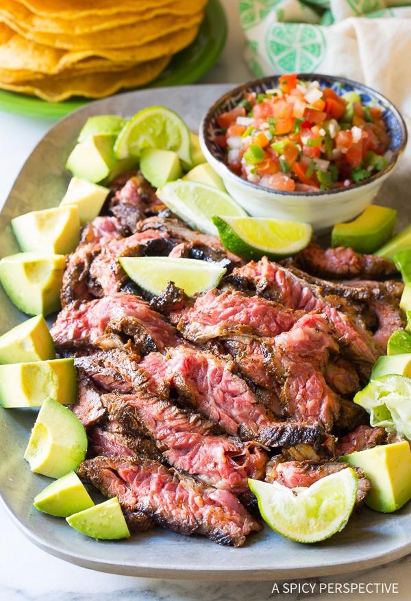 Perfect Quick-Seared Carne Asada Recipe (Low Carb!)