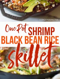 Amazing One-Pot Shrimp Black Bean Rice Skillet Recipe