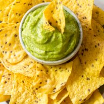 Healthy Roasted Poblano Avocado Dip Recipe - Low carb, Dairy Free, Gluten Free & Vegan!