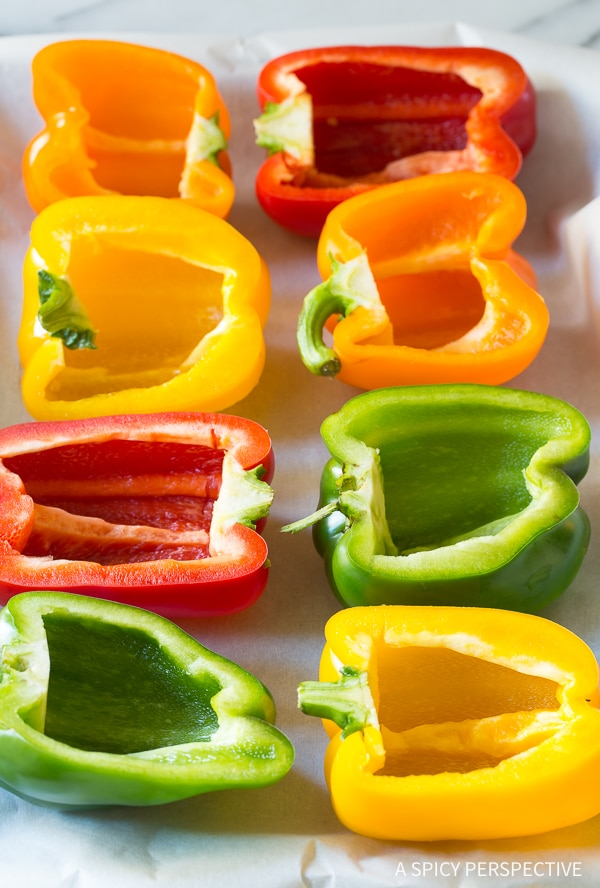 Making Paella Stuffed Peppers Recipe