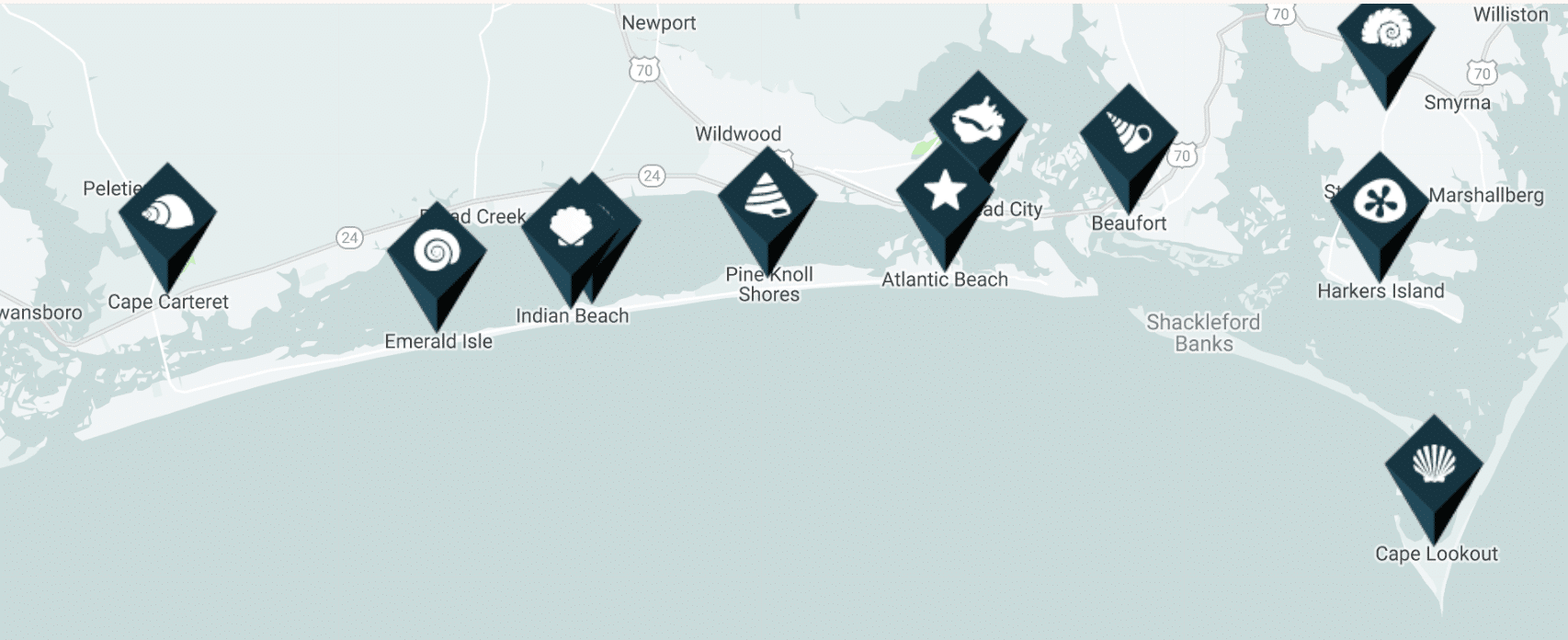 Crystal Coast Map - Why You Should Visit The Crystal Coast Outer Banks NC (Emerald Isle Vacation Travel Tips!)
