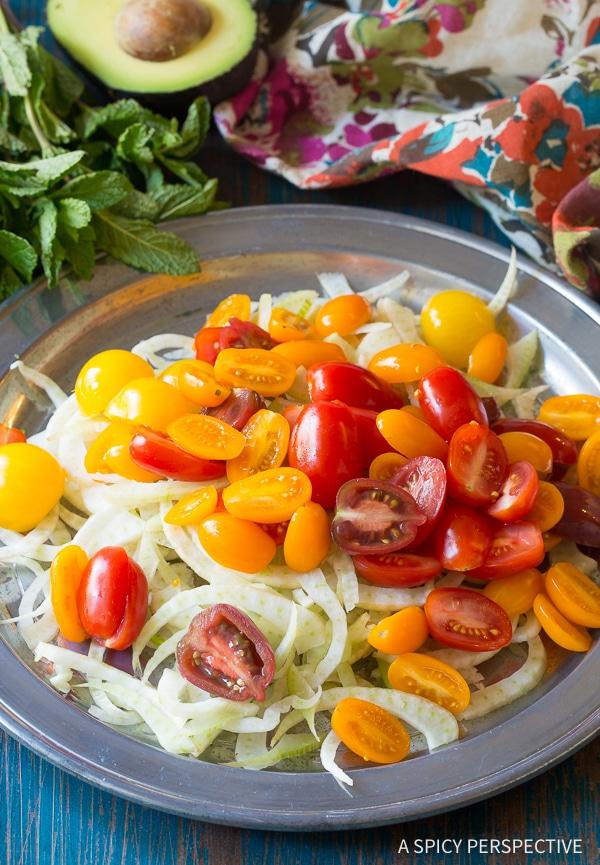 Making Brazilian Chopped Salad Recipe