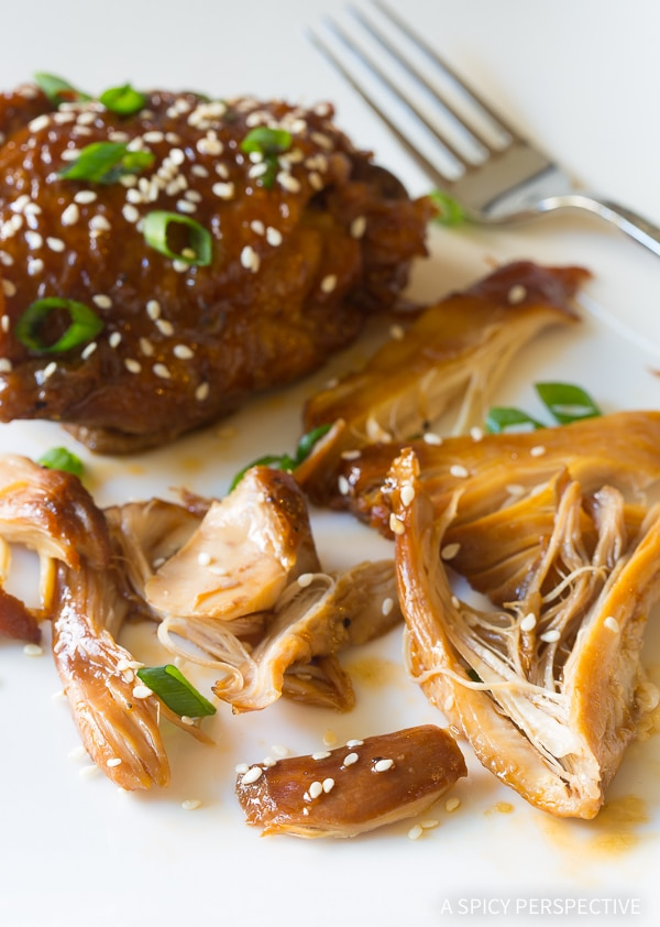 Amazing Instant Pot Sweet Soy Chicken Thighs (Pressure Cooker Recipe)