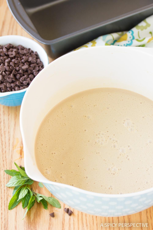 How To Make No-Churn Mocha Mint Chip Vegan Ice Cream Recipe