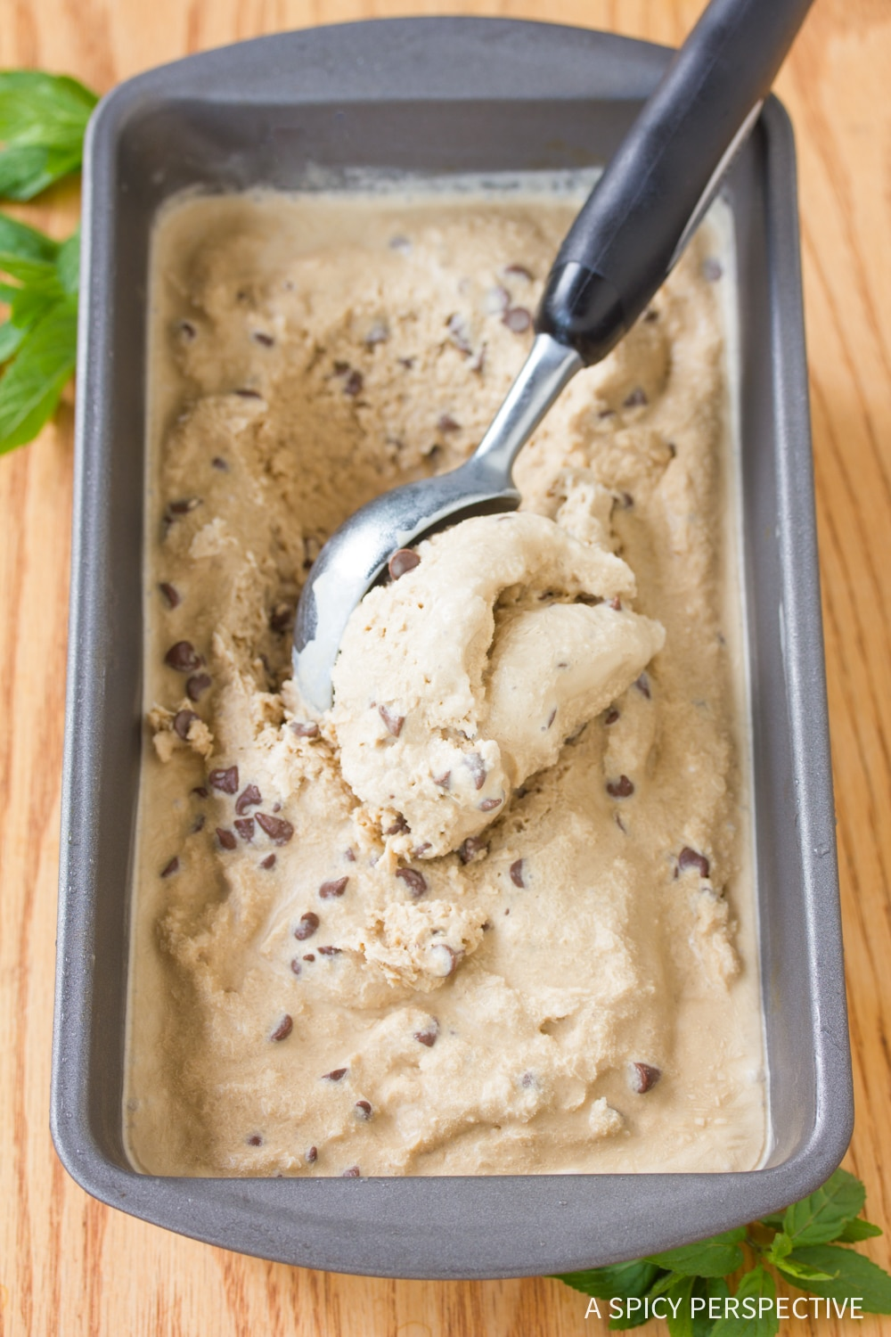 No-Churn Mocha Mint Chip Vegan Ice Cream Recipe