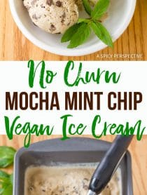 Decadent No-Churn Mocha Mint Chip Vegan Ice Cream Recipe