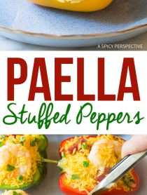 Spanish Paella Stuffed Peppers Recipe